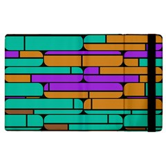 Round Corner Shapes In Retro Colors            			apple Ipad 2 Flip Case by LalyLauraFLM