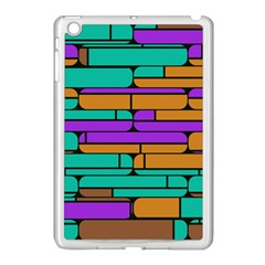 Round Corner Shapes In Retro Colors            			apple Ipad Mini Case (white) by LalyLauraFLM