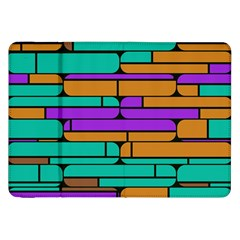 Round Corner Shapes In Retro Colors            			samsung Galaxy Tab 8 9  P7300 Flip Case by LalyLauraFLM