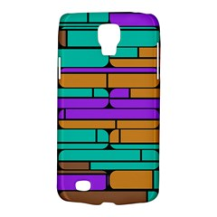 Round Corner Shapes In Retro Colors            			samsung Galaxy S4 Active (i9295) Hardshell Case by LalyLauraFLM