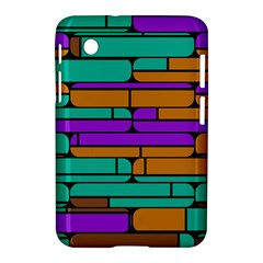 Round Corner Shapes In Retro Colors            			samsung Galaxy Tab 2 (7 ) P3100 Hardshell Case by LalyLauraFLM