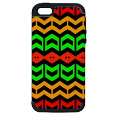 Rhombus And Other Shapes Pattern             			apple Iphone 5 Hardshell Case (pc+silicone) by LalyLauraFLM