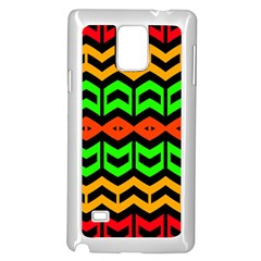 Rhombus And Other Shapes Pattern             			samsung Galaxy Note 4 Case (white) by LalyLauraFLM