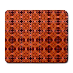 Peach Purple Abstract Moroccan Lattice Quilt Large Mousepads by DianeClancy