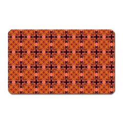 Peach Purple Abstract Moroccan Lattice Quilt Magnet (rectangular) by DianeClancy