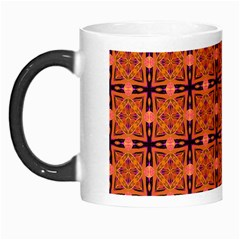 Peach Purple Abstract Moroccan Lattice Quilt Morph Mugs by DianeClancy
