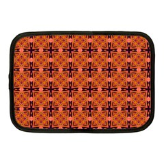 Peach Purple Abstract Moroccan Lattice Quilt Netbook Case (medium)  by DianeClancy