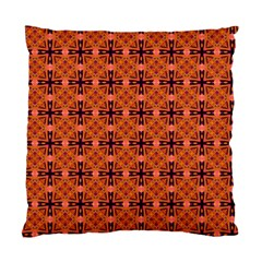 Peach Purple Abstract Moroccan Lattice Quilt Standard Cushion Case (one Side) by DianeClancy