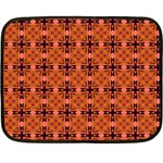 Peach Purple Abstract Moroccan Lattice Quilt Double Sided Fleece Blanket (Mini)  35 x27  Blanket Front