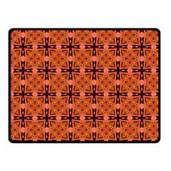 Peach Purple Abstract Moroccan Lattice Quilt Fleece Blanket (small)