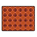 Peach Purple Abstract Moroccan Lattice Quilt Fleece Blanket (Small) 50 x40 Blanket Front