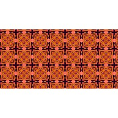 Peach Purple Abstract Moroccan Lattice Quilt You Are Invited 3d Greeting Card (8x4)  by DianeClancy