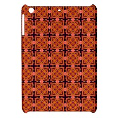 Peach Purple Abstract Moroccan Lattice Quilt Apple Ipad Mini Hardshell Case by DianeClancy