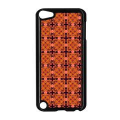 Peach Purple Abstract Moroccan Lattice Quilt Apple Ipod Touch 5 Case (black) by DianeClancy