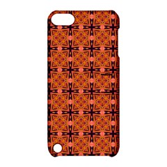 Peach Purple Abstract Moroccan Lattice Quilt Apple Ipod Touch 5 Hardshell Case With Stand by DianeClancy