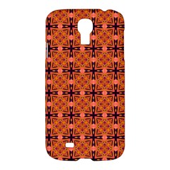 Peach Purple Abstract Moroccan Lattice Quilt Samsung Galaxy S4 I9500/i9505 Hardshell Case by DianeClancy