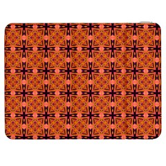 Peach Purple Abstract Moroccan Lattice Quilt Samsung Galaxy Tab 7  P1000 Flip Case by DianeClancy