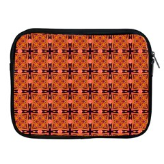 Peach Purple Abstract Moroccan Lattice Quilt Apple Ipad 2/3/4 Zipper Cases by DianeClancy