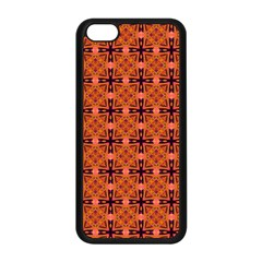 Peach Purple Abstract Moroccan Lattice Quilt Apple Iphone 5c Seamless Case (black) by DianeClancy