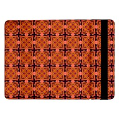 Peach Purple Abstract Moroccan Lattice Quilt Samsung Galaxy Tab Pro 12 2  Flip Case by DianeClancy