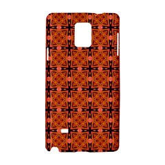 Peach Purple Abstract Moroccan Lattice Quilt Samsung Galaxy Note 4 Hardshell Case by DianeClancy