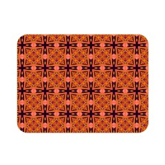 Peach Purple Abstract Moroccan Lattice Quilt Double Sided Flano Blanket (mini)  by DianeClancy