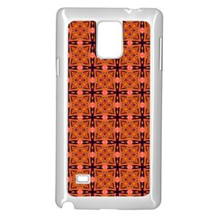 Peach Purple Abstract Moroccan Lattice Quilt Samsung Galaxy Note 4 Case (white) by DianeClancy