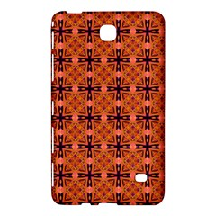 Peach Purple Abstract Moroccan Lattice Quilt Samsung Galaxy Tab 4 (7 ) Hardshell Case  by DianeClancy