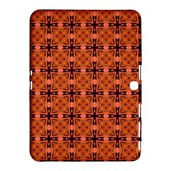 Peach Purple Abstract Moroccan Lattice Quilt Samsung Galaxy Tab 4 (10 1 ) Hardshell Case  by DianeClancy