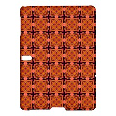 Peach Purple Abstract Moroccan Lattice Quilt Samsung Galaxy Tab S (10 5 ) Hardshell Case  by DianeClancy