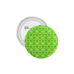 Vibrant Abstract Tropical Lime Foliage Lattice 1 75  Buttons by DianeClancy