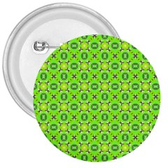 Vibrant Abstract Tropical Lime Foliage Lattice 3  Buttons by DianeClancy