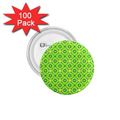 Vibrant Abstract Tropical Lime Foliage Lattice 1 75  Buttons (100 Pack)  by DianeClancy