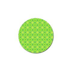Vibrant Abstract Tropical Lime Foliage Lattice Golf Ball Marker by DianeClancy