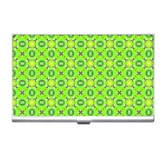 Vibrant Abstract Tropical Lime Foliage Lattice Business Card Holders by DianeClancy