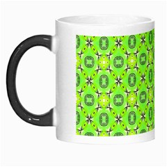 Vibrant Abstract Tropical Lime Foliage Lattice Morph Mugs by DianeClancy