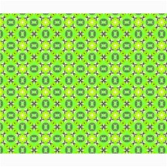 Vibrant Abstract Tropical Lime Foliage Lattice Canvas 20  X 24   by DianeClancy
