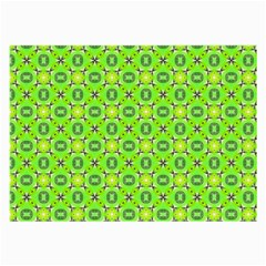 Vibrant Abstract Tropical Lime Foliage Lattice Large Glasses Cloth by DianeClancy