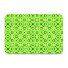 Vibrant Abstract Tropical Lime Foliage Lattice Plate Mats by DianeClancy