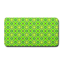 Vibrant Abstract Tropical Lime Foliage Lattice Medium Bar Mats by DianeClancy