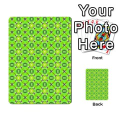 Vibrant Abstract Tropical Lime Foliage Lattice Multi Purpose Cards (rectangle)  by DianeClancy