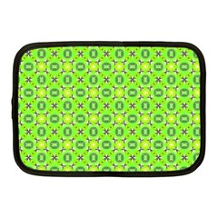 Vibrant Abstract Tropical Lime Foliage Lattice Netbook Case (medium)  by DianeClancy