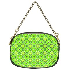 Vibrant Abstract Tropical Lime Foliage Lattice Chain Purses (one Side)  by DianeClancy