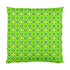 Vibrant Abstract Tropical Lime Foliage Lattice Standard Cushion Case (two Sides) by DianeClancy