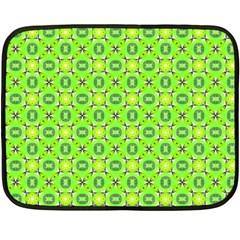Vibrant Abstract Tropical Lime Foliage Lattice Double Sided Fleece Blanket (mini)  by DianeClancy