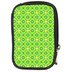 Vibrant Abstract Tropical Lime Foliage Lattice Compact Camera Cases by DianeClancy