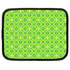 Vibrant Abstract Tropical Lime Foliage Lattice Netbook Case (xxl)  by DianeClancy