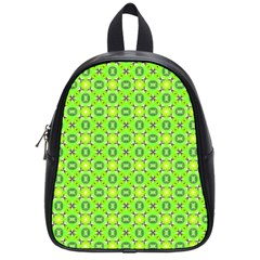 Vibrant Abstract Tropical Lime Foliage Lattice School Bags (small)  by DianeClancy