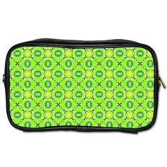 Vibrant Abstract Tropical Lime Foliage Lattice Toiletries Bags 2 Side by DianeClancy