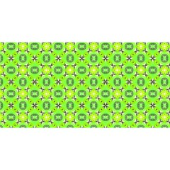 Vibrant Abstract Tropical Lime Foliage Lattice You Are Invited 3d Greeting Card (8x4)  by DianeClancy